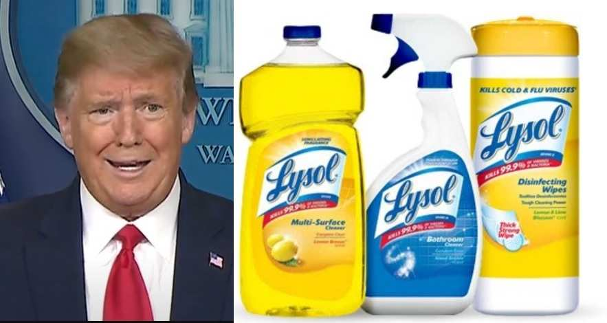 Lysol maker Urges People Not To Inject Disinfectants After Trump Remarks