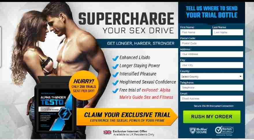 Alpha Thunder Male Enhancement Pills (UK), Price & Does It Really Work? - Alpha Thunder Testo