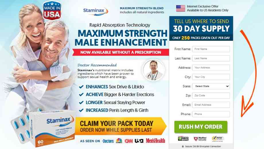 Staminax Male Enhancement Pills Review : Does Staminax Really Work?
